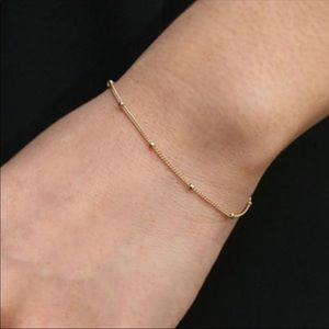 Jewelry - Gold / Silver Bead Bracelet Minimalistic Thin Tiny